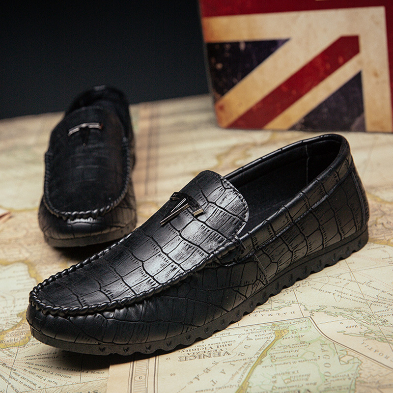 England 2019 Men Leathers Shoes Fashion Loafers Business Casual Slip-on Luxury Plus Non-slip Mens Driving