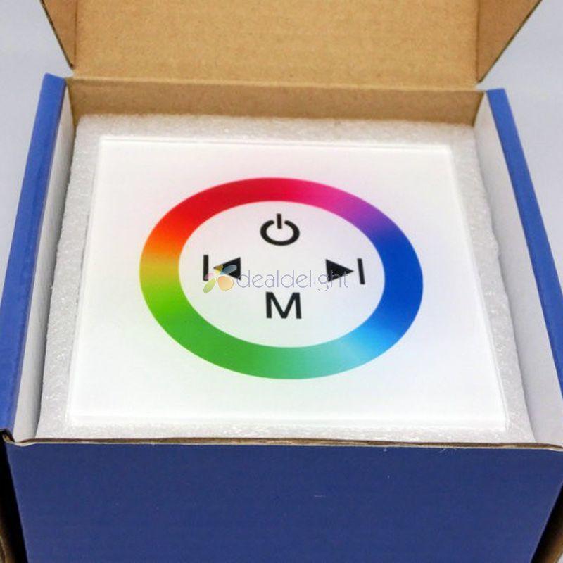 TM08 Touch Panel RGB LED Controller Wall Mount DC12V/24V 12A Full Color Dimmer Controller for RGB LED Strip Light