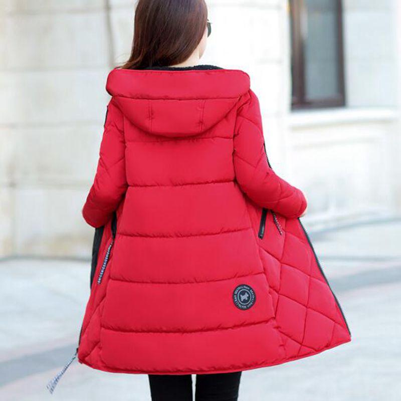 Survêtement À Nouvelle Occasionnel Hiver Capuche Moyen Veste 2018 Grande Nzyd646 Lâche Manteau Femmes Style army Chaude Green black Red Femelle long Taille Coton Fashion zUOnCwxO