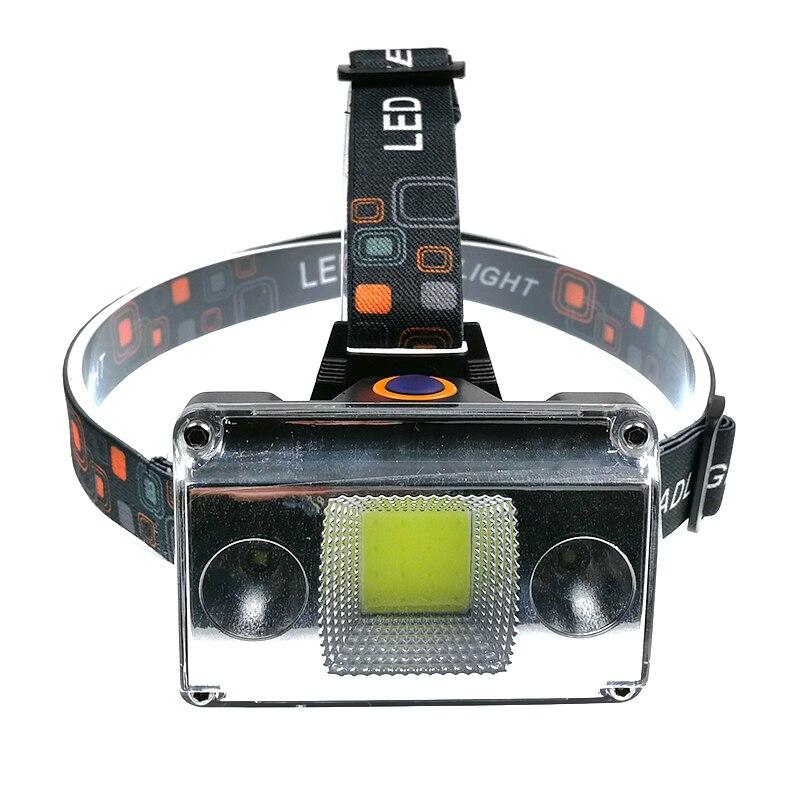 20000 Lumens COB LED Headlamp USB Charging Headlight Tactical 4-Mode Bike Bicycle Flashlight Hunting Head Lantern Lighting