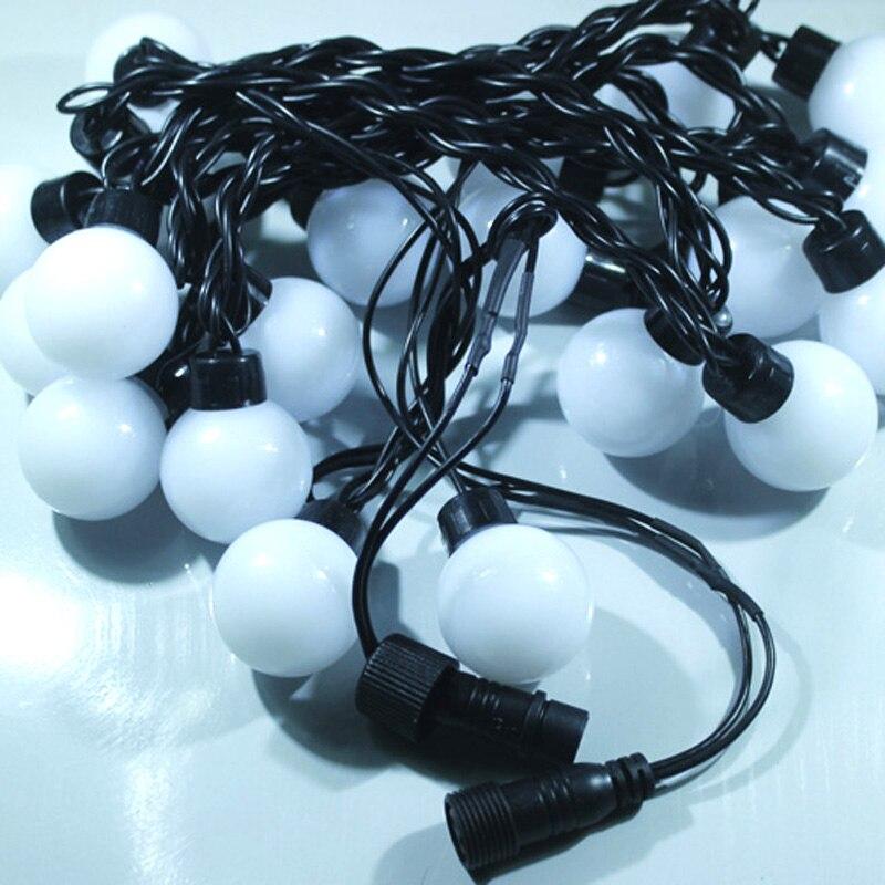 Novelty Outdoor lighting 5cm big size LED Ball string lamps Black ...