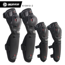 2017 Summer New SCOYCO motocross motorcycle riding knee Elbow pads motor Racing kneecap Elbow pads 4 pcs made of PP  FREE SIZE