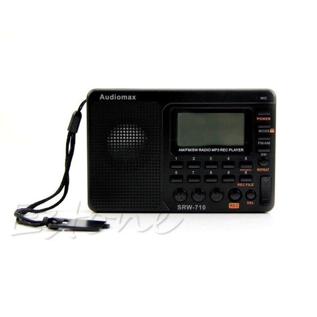 Цифровая Настройка ЖК-Приемник TF MP3 REC Плеер AM FM SW Full Band Радио Портативный