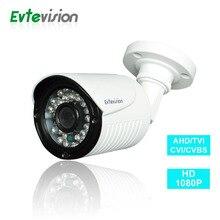 Evtevision AHD bullet Camera 1080P 2MP OSD Menu 30 LEDs 3.6mm Lens IR CUT 65Feet 4-in-1 AHD/TVI/CVI/CVBS Camera Weatherproof