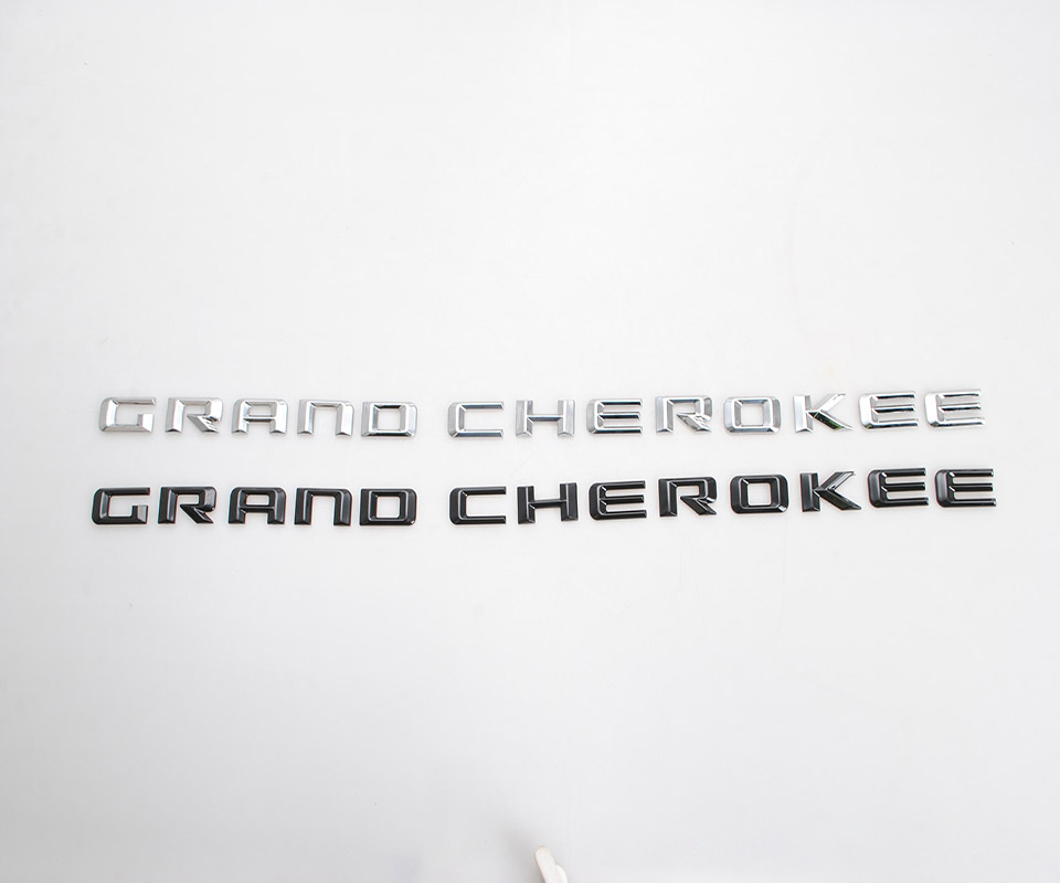 SHINEKA Emblems For Jeep Grand Cherokee 2014-2016 Car Custom Styling Emblem Plastic 3D Letter Stickers For Grand Cherokee Access