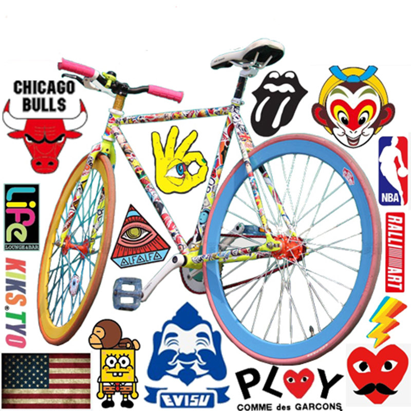 Mountain Bike Bicycle Stickers Cycling Frame Helmet Decoration Personalized Motorcycle pegatinas bicicletas pegatinas moto