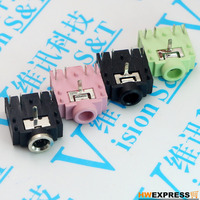 10 PCS Environmental 3 5 Frequency Socket Copper Head Double Track Female Seat Headset 5 3