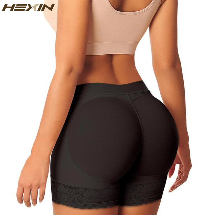 6b1311bfd2ef HEXIN Women Butt Lifter Boy Shorts Seamless Enhancer Underwear Control Panties  Padded Body Shaper Butt Hip
