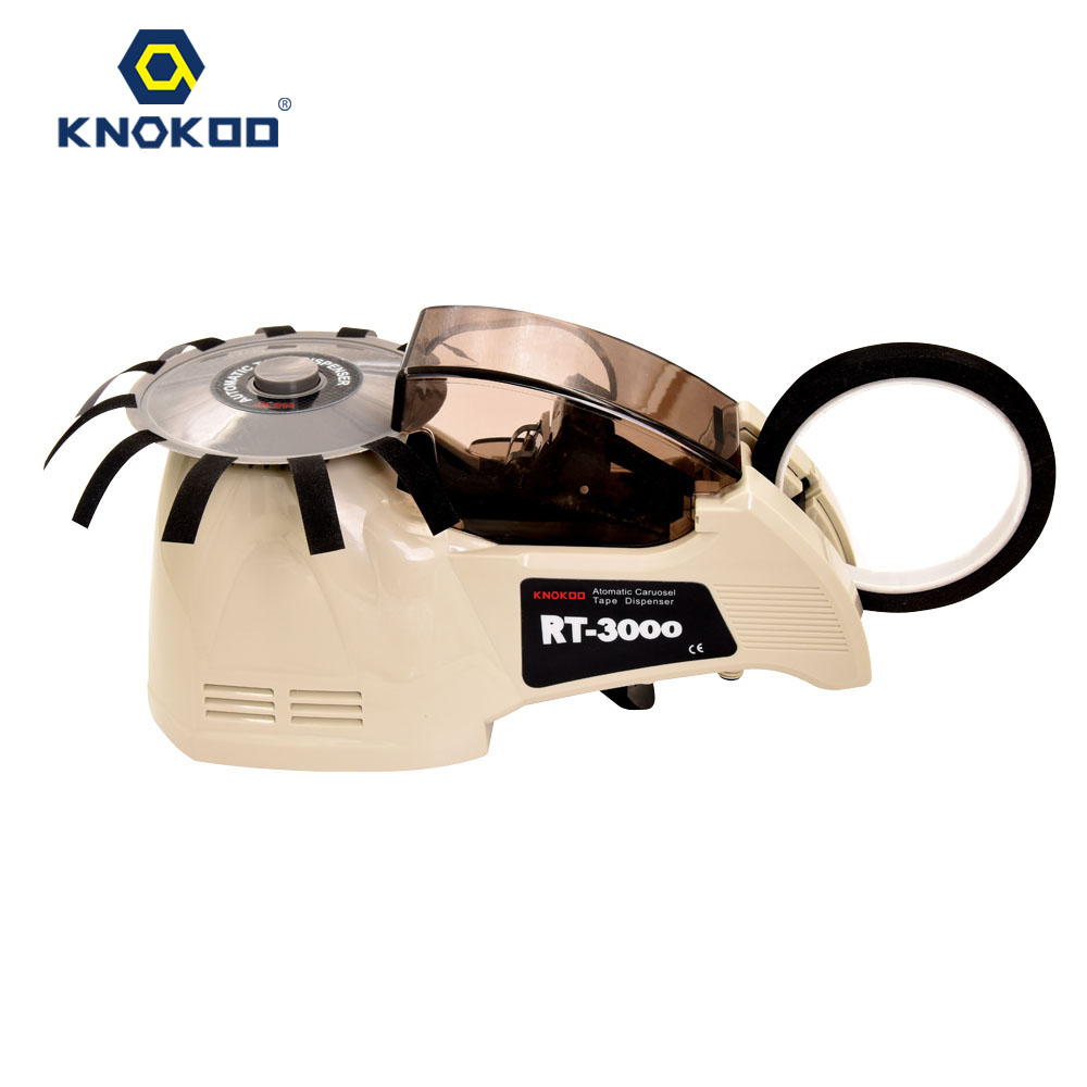 KNOKOO Automatic Tape Dispenser RT-3000 for Glass Tape and Double-side Tape kitmmmc32helmetsfunv72220 value kit scotch nfl helmet tape dispenser mmmc32helmetsf and universal smooth paper clips unv72220