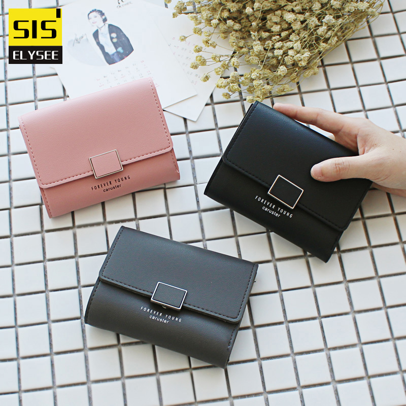 Fashion Design Women Short Wallet OL Style Purse Female Coin Photo Pocket Card Holder Clutch Famous Brand Money Bag 3 Folding simple organizer wallet women long design thin purse female coin keeper card holder phone pocket money bag bolsas portefeuille