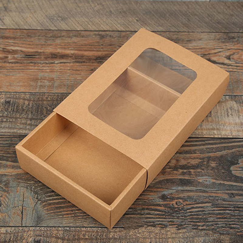 Square L S M 50 pack of different sizes Kraft Gift Boxes XS Necklace Long