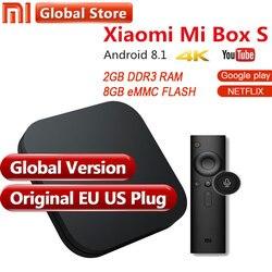 Original Global Version Xiaomi Mi Box 3 S 2GB 8GB Android 6.0 8.1 Smart 4K Ultra HD WIFI Google Cast Netflix IPTV Set top Box