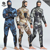 New 5mm Camouflage Two Pieces Of Men S Waterproof Warm Warm Fishing Suit And Surfers With