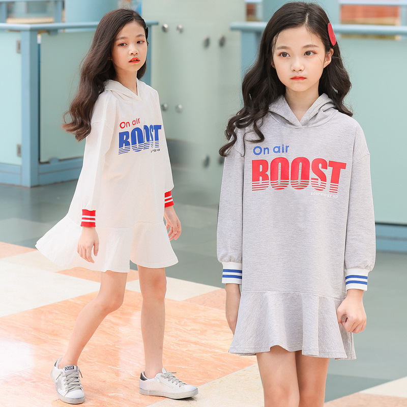 the new 2019 cuhk childrens princess dress made of pure cotton letter hooded han edition manufacturer wholesalethe new 2019 cuhk childrens princess dress made of pure cotton letter hooded han edition manufacturer wholesale