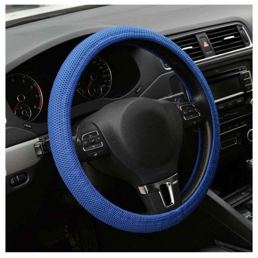 Non-Slip Universal Car Auto High Elasticity Handmade Skidproof Fish Net Stitching Steering Wheel Cover Vehicles Decoration
