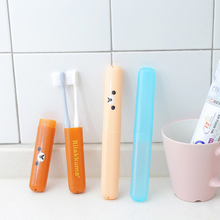 1pc Cute bear color toothbrush box cartoon portable antibacterial  travel holder multi-function Bathroom Products