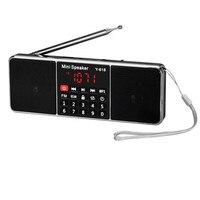 新加入最高の価格!!!ポータブルデジタル液晶fmラジオステレオオーディオスピーカーmp3音楽プレーヤーusb aux tf送料無料XP15M03