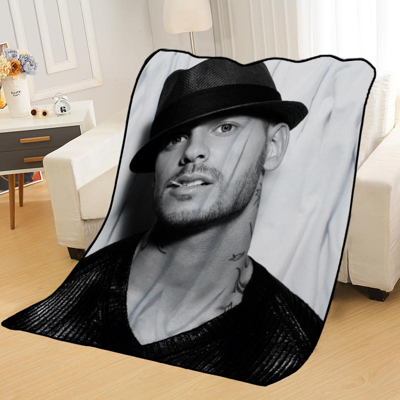Personalized Blankets Custom M Pokora Blankets For Beds Soft DIY Your Picture Decoration Bedroom Throw Travel Blanket