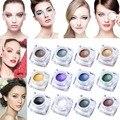 IMAGIC 12/pc de Sombra de Ojos Shimmer Glow 12 Colores glitter sombra de ojos Crema Impermeable Duradera Maquillaje