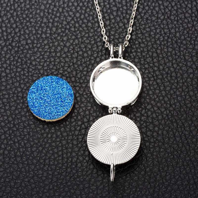 25mm Music Glass Ball Aroma Diffuser DIY  Necklace Open Lock Pendant Small Box Send Chain Length 60cm + 1 Bright Pad A82