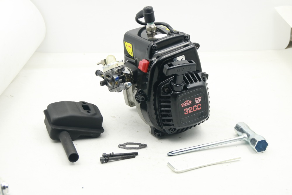 New 32cc 4 bolts gasoil Engine With muffler carburetor for 1 5 hpi rovan king motor