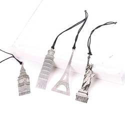 Elizabeth eiffel tower statue of liberty metal book markers bookmark for books paper clips office school.jpg 250x250