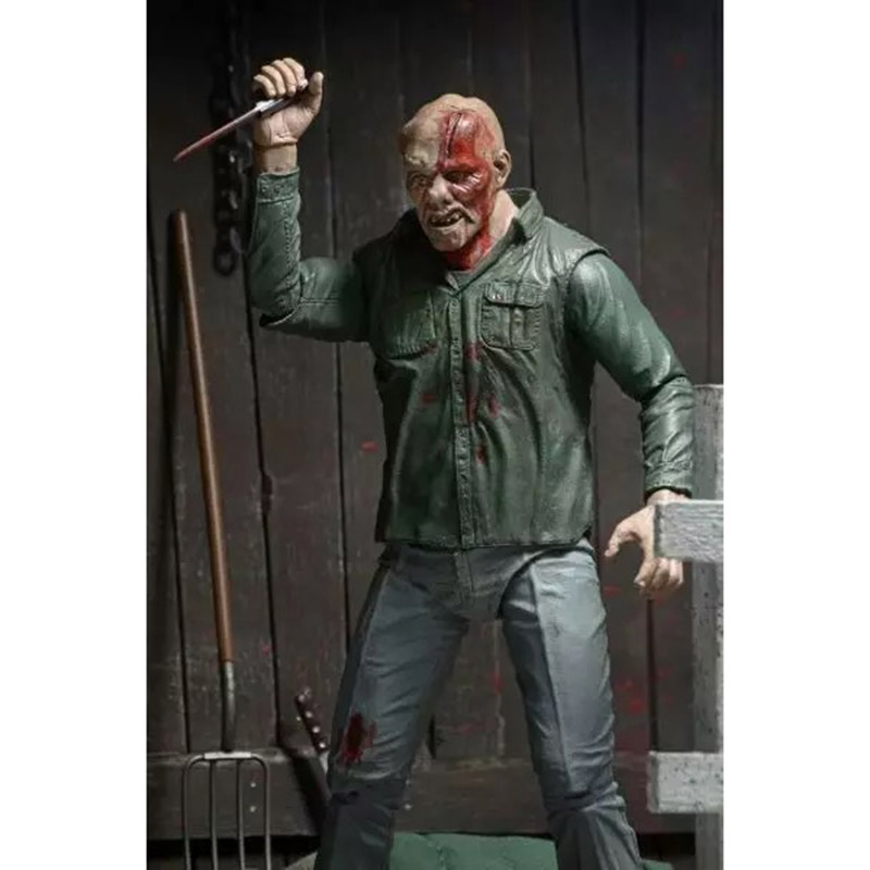 NECA 3D Friday The 13th Part 3 The Final Chapter Jason Voorhees PVC Action Figure Model Doll 18cm (12)