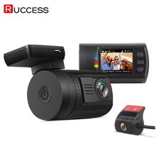 RUCCESS Dash Camera Mini 0906 Car Dash Cam Dual Lens GPS Logger Full HD 1080P 170 Degree Novatek Night Vision With Rear Cam 2017
