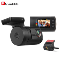 RUCCESS Dash Camera Mini 0906 Car Dash Cam Dual Lens GPS Logger Full HD 1080P 170
