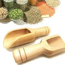 3 Pcs Wooden Small Scoop Salt Sugar Coffee Spoon Mini Kitchen Cooking Tool WXV Sale