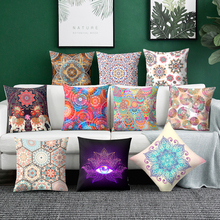 Mandala Cushion Cover  Geometric Pillowcase Polyester Pillow Case print pillowcases Elephant Pillow covers Sofa cushion cover snowman print cushion cover pillowcase
