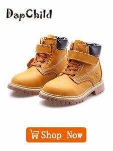 12777fb5 ④DapChild cuero genuino niños zapatos impermeables Martin botas de ...