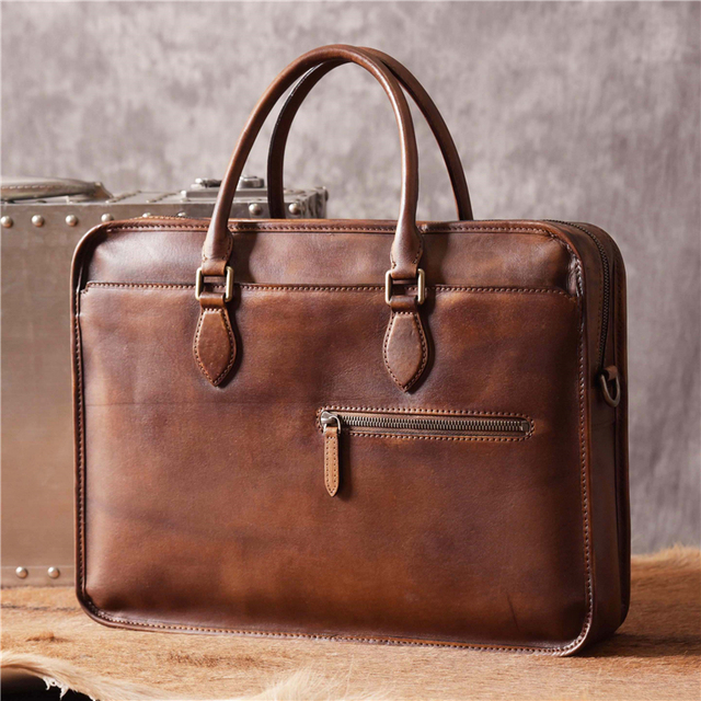 a43eedf17f23 2018 Brand Luxury Men Briefcases French Designer Business Genuine Leather  Bag Gentlemen Vintage Classic Top Quality