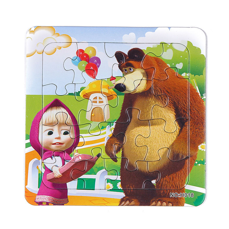 3D Paper jigsaw puzzles for children kids toys brinquedos Masha and Bear Princess toys for children Baby toys educational Puzles