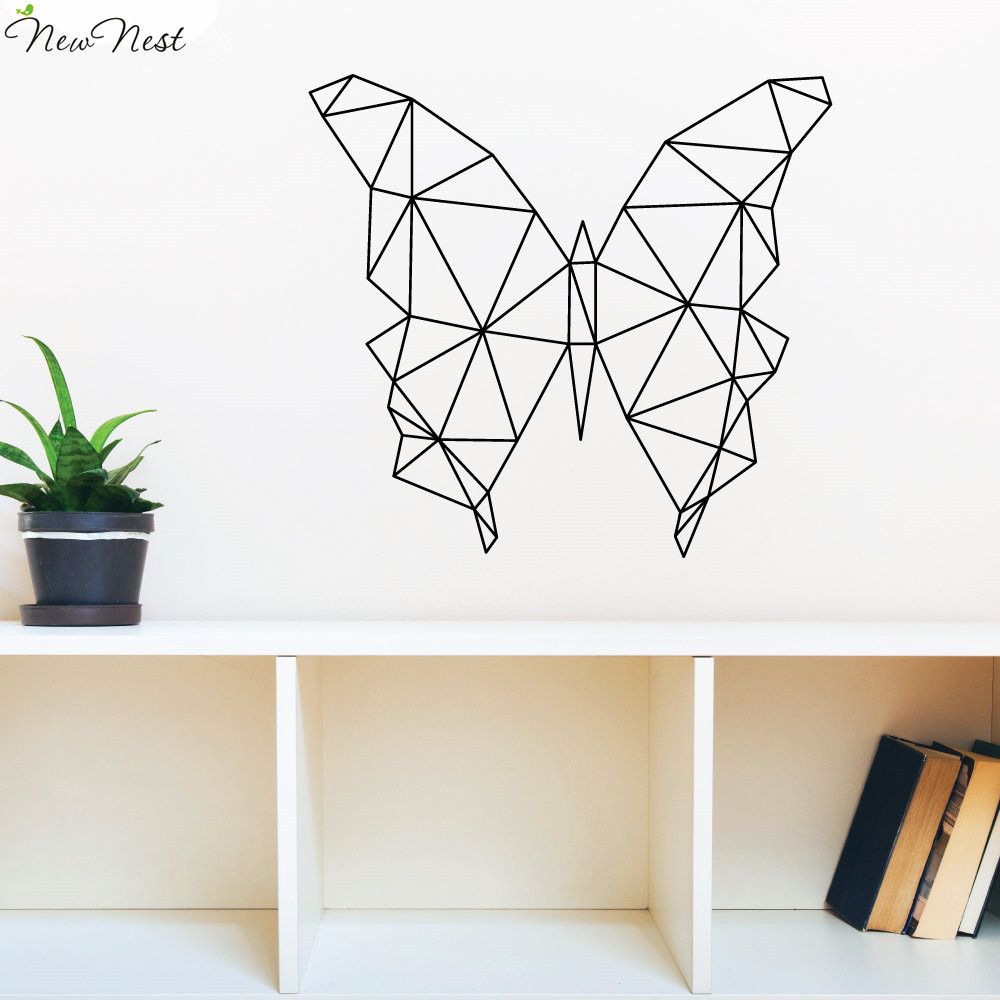 From Seword Wall Art Vinyl Lettering Home Decor ~ Geometric animals butterfly wall decal vinyl sticker home
