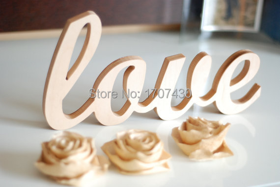 Love sign wooden wall decor wedding or home decoration interior signs painted white wood letters wedding decoration letters