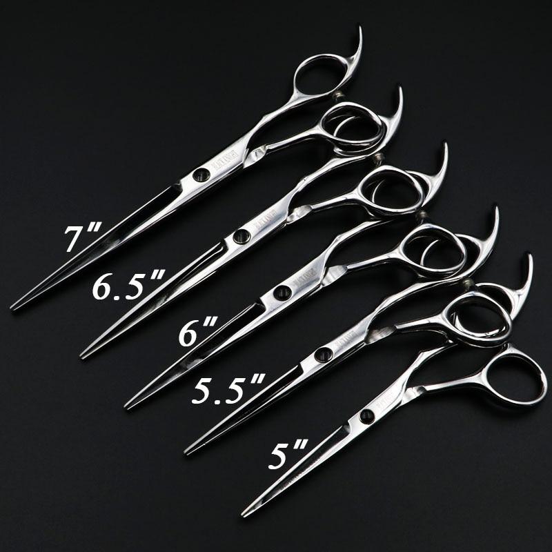 """5 """"/5.5"""" / 6 """"/6.5"""" / 7 """"tijeras de pelo Juego de tijeras de peluquería profesional Corte de tijeras de peluquero Personalidad de alta calidad"""