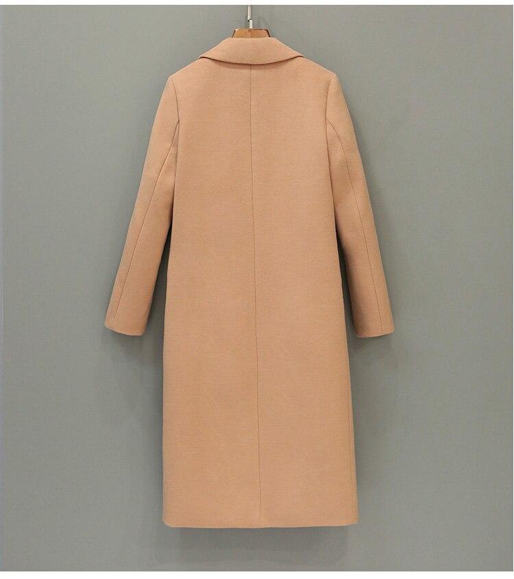 Uwback 2018 Wiosna Marka Trench Coat Kobiety Długi Prosto Płaszcz - Ubrania Damskie - Zdjęcie 2
