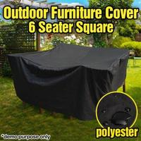 Outdoor Patio Dust cover Oxford cloth Furniture Cover Waterproof 6 Seater Table Chair Cover Black Table Cloth Garden Supplies