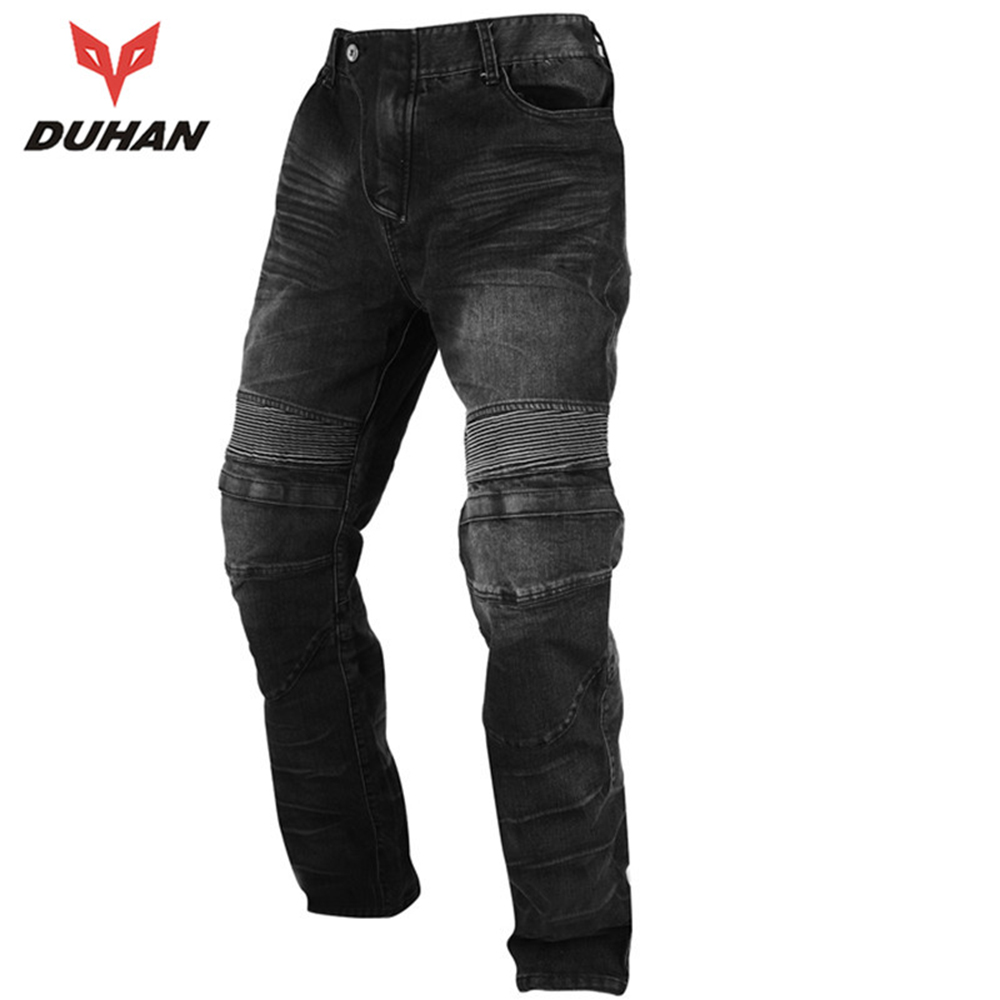 DUHAN Men's Motorcycle Jeans Motorbike Jeans Riding Biker Trousers Denim Motorcycle Pants Moto Pants Knee Guards Protective Gear