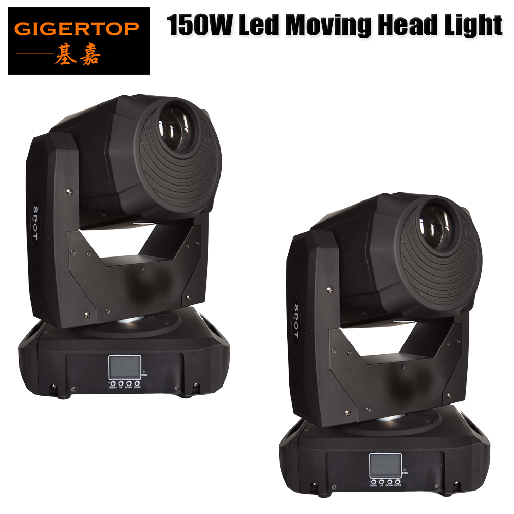 Freeshipping 2 Unit 150W Spot Led Moving Head Light Strobe Professional 14/16 Channel 150W AC 100-240V Sound Active for KTV Club