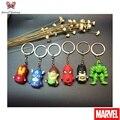 Super cute Super hero Avengers Keychain Spider Man/Batman/Superman/Captain America/Green Lantern Pendant Key Ring ZKSH7S