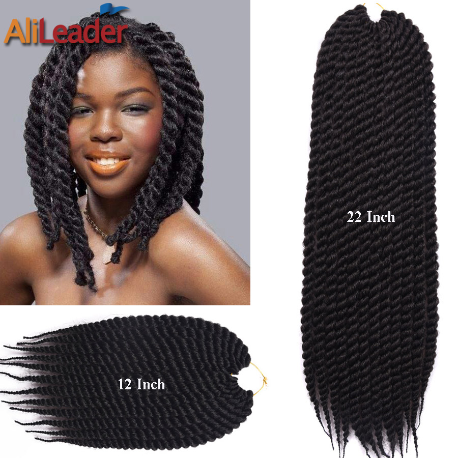 Twist Crochet Braids Curly 12Roots/Pack 12 22 2X Box Braids Hair ...