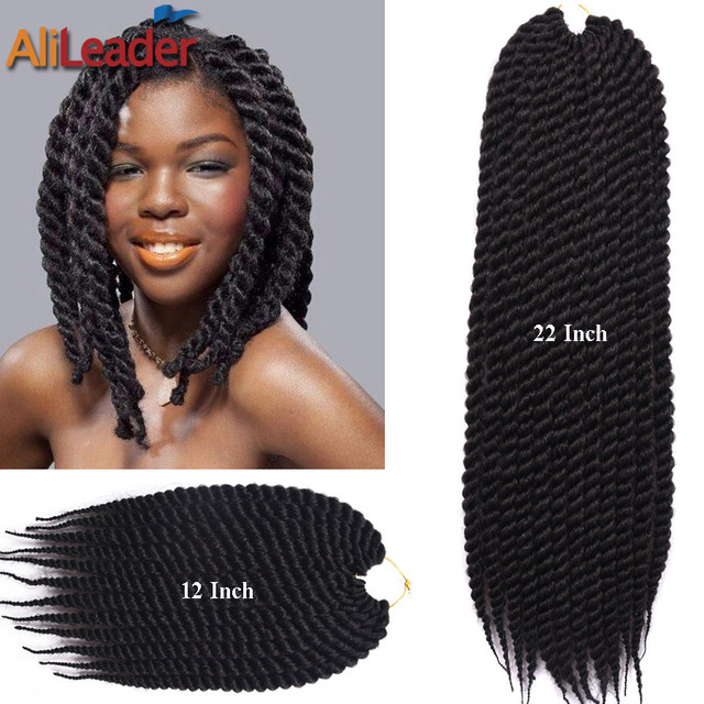 Crochet Braids Curly 12Roots/Pack 12 22 2X Box Braids Hair Faux L...