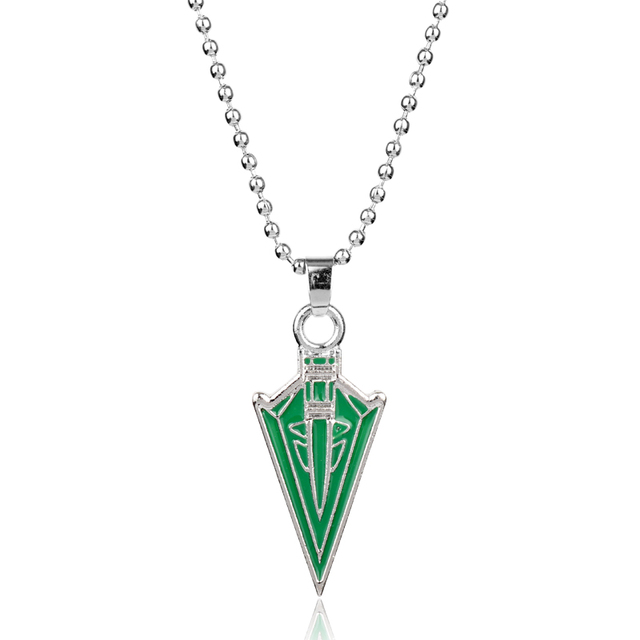 MQCHUN Wholesale Fashion Green Arrow Oliver Queen Hero Pendant Necklace Cosplay Men Women Jewelry Accessories