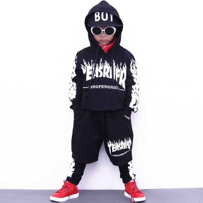 a9d2113c315 Boys Hoodie and Pant Sets Girls Street Dance Clothes Kids Hip Hop Costumes  Dance Wear Children. sku  32869631916