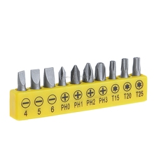 10Pcs Precision Tool 1/4″ Hex Shank Screwdriver Bit -B119