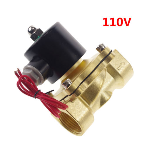 110VAC Water Air Oil Brass NC Electric Solenoid Valve 1 inch BSPP x 1