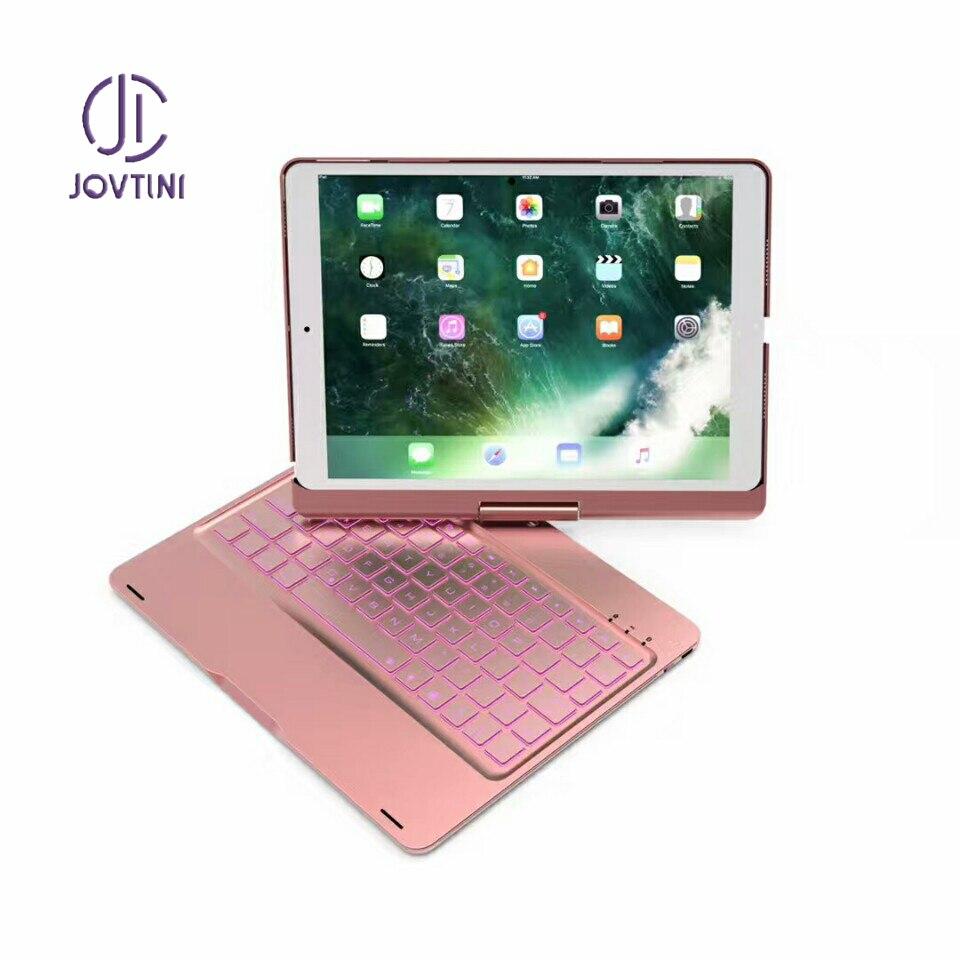 Ультра тонкий Мини Беспроводная Bluetooth клавиатура 360 градусов Поворот всего тела чехол для ipad 2017/2018/air/air2/Pro 9,7 дюймов планшетный ПК