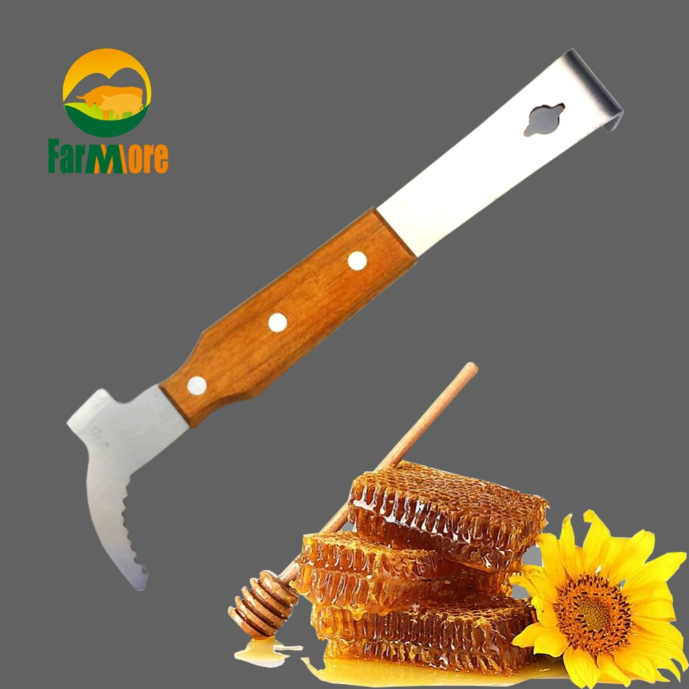 J Type Take honey Tools Multifunctional Bee Scraper Cut Honey Knife Beekeeping Necessary Hive Bee Tool